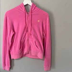 Lilly Pulitzer Pink Jacket Size M Girls Tery Cloth